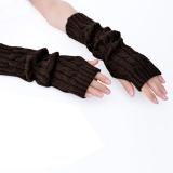 Spesifikasi Promosi Astar Wanita Lengan Warmers Panjang Sarung Tangan Tangan Rajutan Setengah Warmer Glove Untuk Wanita Intl Bagus