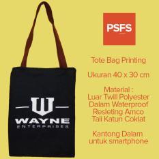 Beli Psfs Tote Bag Totebag Printing Motif Wayne Enterprises Batman Hitam 0102 Online Indonesia
