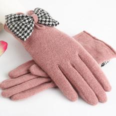 Ptah Korea Fashion Style ditambah beludru perempuan besar Cooljie hangat sarung tangan wol sarung tangan (