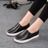 Jual Poly Urethane Perempuan Ukuran Besar Set Kaki Sepatu Slip On Bernapas Kanvas Sepatu Hitam Kulit Oem Grosir