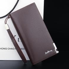 PU Kulit Pria Tas Genggam Dompet Fashion Pria Purse Clutch Bag Cell Phone Uang Foto Kartu
