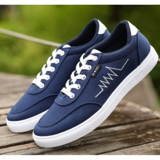 Harga Pudding Korea Korean Fashion Men S Casual Canvas Shoes Blue Dan Spesifikasinya