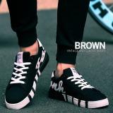 Harga Puding Pria Kanvas Sepatu Bantuan Rendah Fashion Kain Sepatu Sneakers Breathable Leisure Students Hitam Yang Murah
