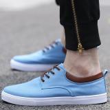 Promo Puding Pria Kasual Sepatu Kanvas Sepatu Siswa Biru Muda Tiongkok