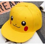 Puding Pocket Monster Picacho Casual Hip Hop Hat Kuning Diskon Tiongkok