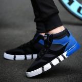 Review Toko Puding Sneaker Tinggi Atas Group Sport Casual Sepatu Biru Hitam