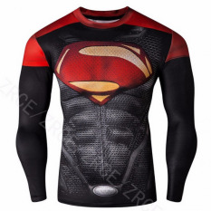Beli Pudding Sports Fit Men S Superman T Shirt Black Intl Murah Tiongkok