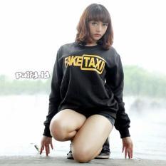 puffy id FAKE TAXI sweater wanita fleece SWEATER UNISEX