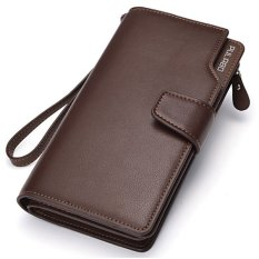 PULABO Dompet Pria Men Batam Kulit Branded Model Terbaru Long Wallet Zipper Credit Cards Mobile Phone Holder