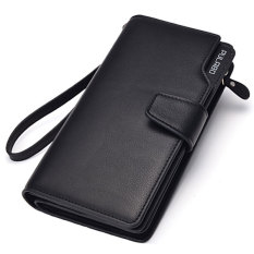 PULABO Dompet Pria Batam Branded Kulit Model Terbaru Men Long Wallet Zipper Credit Cards Mobile Phone Holder