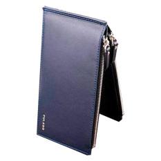 Promo Pulabo Women Men 17 Slot Credit Card Holder Wallet Dark Blue