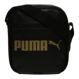 Puma Campus Portable Sling Bag Puma Black Gold Original