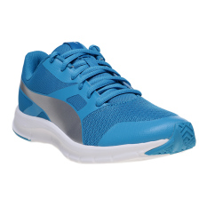 Puma Flexracer Jr Running Shoes Blue Danube Puma Silver Indonesia Diskon