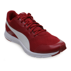 Promo Puma Flexracer Running Shoes Barbados Cherry Puma White Di Indonesia