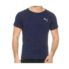 Review Puma Kaos Evostripe Spaceknit Tee 59062406 Navy Terbaru