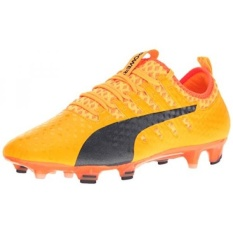 PUMA Mens EvoPOWER Vigor 1 FG Sepatu Sepak Bola, Ultra Kuning-Peacoat-Ikan Badut Oranye, KAMI-Internasional