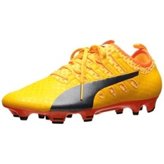 PUMA Mens EvoPOWER Vigor 2 FG Sepatu Sepak Bola, Ultra Kuning-Peacoat-Ikan Badut Oranye, KAMI-Internasional