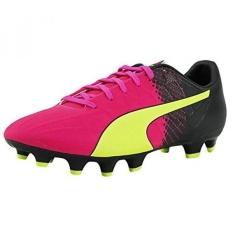 Puma Mens EvoSPEED 1.5 Trik FG Sepatu Pink GLO-Safety Kuning-Hitam-Intl