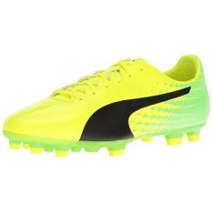 PUMA Mens EvoSPEED 17.4 AG Sepatu Sepak Bola, Keselamatan Kuning-Puma Black-Green Gecko, KAMI-Internasional