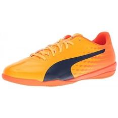 PUMA Mens EvoSPEED 17.4 Sepatu Sepak Bola IT, Ultra Kuning-Peacoat-ORANGE Ikan Badut, KAMI-Internasional
