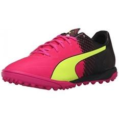 PUMA Mens EvoSPEED 4.5 Trik TT Edisi Terbatas Soccer Sneaker, Pink Glow/Safety Kuning, 11.5 D KAMI-Internasional