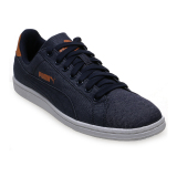 Jual Puma Smash Denim Tennis Shoes Peacoat Import