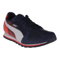 Jual Puma St Runner Nl Geometry Men S Running Shoes Peacoat Grenadine Branded