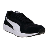 Diskon Puma St Runner Plus Running Shoes Black White Gold Puma Indonesia