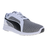 Jual Puma St Trainer Evo Knit Pack Running Shoes Puma White Asphalt Puma Di Indonesia