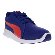 Cara Beli Puma St Trainer Evo Running Shoes Royal Blue Red Blast