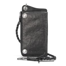 Punk Desain sangat tipis Kulit asli Pria model panjang banyak tempat kartu  Dompet ritsleting dompet Rantai be53fafe36