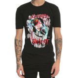 Model Punk Slipknot Dicetak Musim Semi Dan Musim Panas T Shirt Hitam Baju Atasan Kaos Pria Kemeja Pria Terbaru