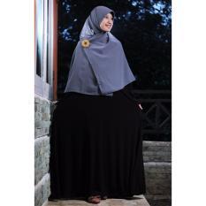 Gamis Syari Bahan Jersey Premium Black
