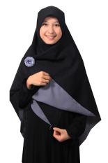 Harga Hijab Kerudung Segi Empat Hijab Syari Bolak Balik Pure Syaree Hitam Abu Abu Pure Syaree Ori