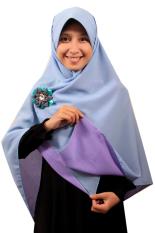 Hijab - Kerudung Segi Empat - Hijab Syari Bolak Balik Pure Syaree Lavender Baby Blue
