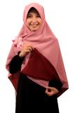 Jual Hijab Kerudung Segi Empat Hijab Syari Bolak Balik Pure Syaree Maroon Dusty Pink Di Jawa Barat