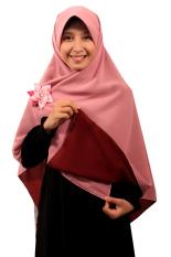 Hijab - Kerudung Segi Empat - Hijab Syari Bolak Balik Pure Syaree Maroon Dusty Pink