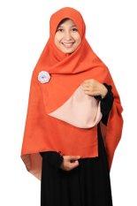 Hijab - Kerudung Segi Empat - Hijab Syari Bolak Balik Pure Syaree Terakota Peach 018