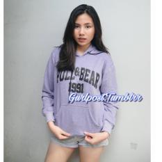 Harga Purple Pull Bear Hoodie Jumper Gurlpost Tumblrr Terbaik