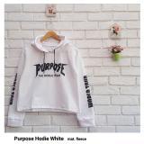 Jual Purpose Hoodie Crop Jaket Hoodie Wanita Crop Online