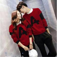 Pusat Baju Couple Murah - Sweater Kembaran Online - Pakaian Kapel / Pasangan / Sama  LP A Maroon