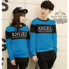 Pusat Baju Couple Online - Sweater Kapel Murah - Pasangan (Kembaran / Capel / Cope / Sama ) Lp Angel Biru
