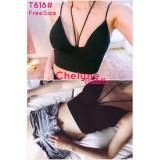 Harga Pusat Bra Jakarta Bralette 3 4 Chelyne T618 Black All Size Termahal