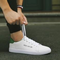 Harga Putih Kasual Pria Sepatu Putih Sepatu Kanvas Cn 9807 Putih Dan Hijau Sepatu Pria Sepatu Kulit Sepatu Kerja Sepatu Formal Pria Murah