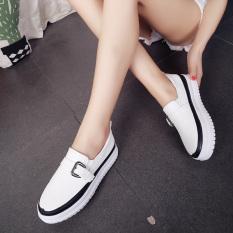 Harga Putih Musim Gugur Baru Sepatu Yang Berat Itu Sepatu Platform Yang Hitam Online Tiongkok