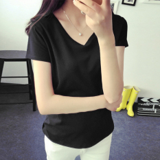Ulasan Lengkap T Shirt Hitam Wanita Gaya Korea Hitam Hitam