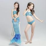 Promo Mermaid Anak Anak Baju Renang Langit Biru Tiongkok