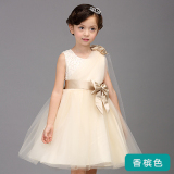 Harga Putri Musim Panas Anak Anak Perempuan Rok Flared Gaun Gadis Gaun Lq15088 Tanpa Lengan Miring Gaun Rok Sampanye Oem Baru