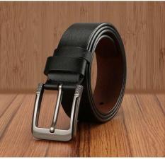 Harga Q Shop Asli Kulit Sapi Belt Jarum Buckle Belt Untuk Pria Ukuran 120 Cm 47 Inch Hitam Intl Origin