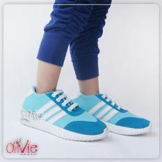 Spesifikasi Qfaa Sepatu Sport Sneakers Anak Biru Beserta Harganya